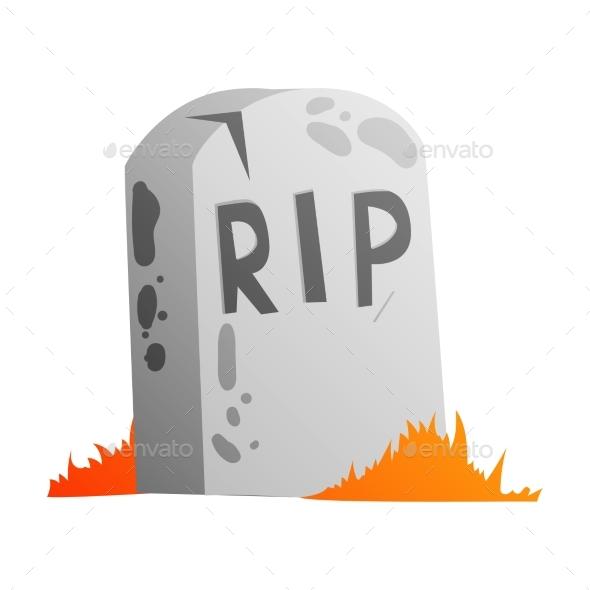 Halloween Tomb Illustration