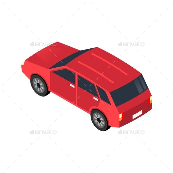 Isometric Car Icon