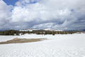 Peaks of the Bighorn Mountains and a snow covered field in west central Wyoming - PhotoDune Item for Sale
