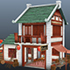 Low Poly and Hand Painted Ninja House Game Assets - 3DOcean Item for Sale