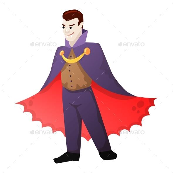 Halloween Vampire Illustration