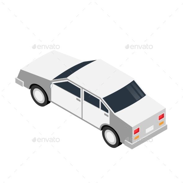 Car Isometric Illustration