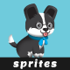 Smart Puppy with Glasses - 2D Game Asset Sprites - GraphicRiver Item for Sale