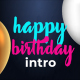 Birthday Wishes Intro - VideoHive Item for Sale