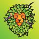 Nature Lion Colorful Logo Design Template - GraphicRiver Item for Sale