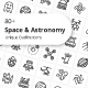 Space And Astronomy Unique Outline Icons - GraphicRiver Item for Sale