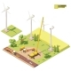 Vector Low Poly Wind Turbines Farm Construction - GraphicRiver Item for Sale