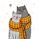 Couple of Cats in Love - GraphicRiver Item for Sale