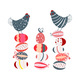 Two Chickens and Easter Eggs in Hand Drawn Style - GraphicRiver Item for Sale