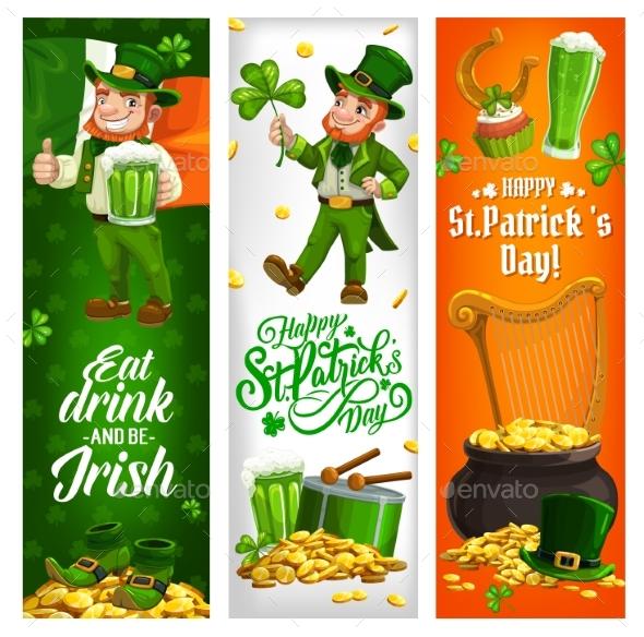 Saint Patrick Day Holiday Leprechaun Irish Flag