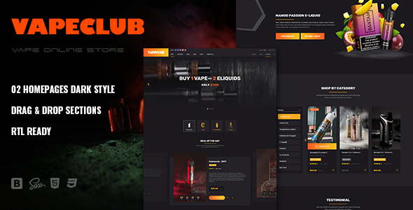 VapeClub | Electronic Cigarettes & Accessories Shopify Theme