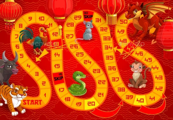 Kids Boardgame with Chinese Calendar Animals