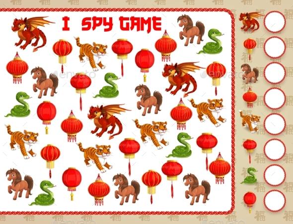 Children Educational Game with China Zodiac Animal