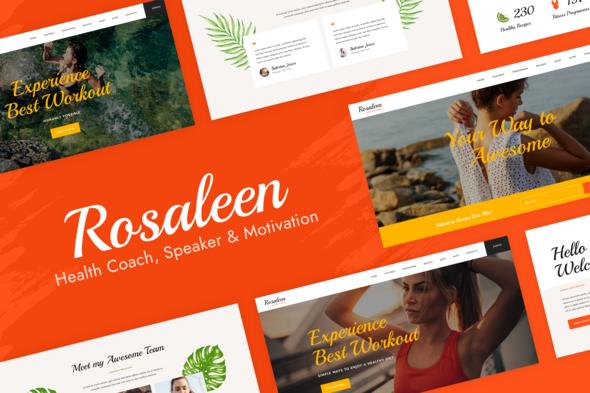 Rosaleen – Health Coach & Motivational Speaker Elementor  Template Kit, Gobase64