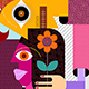 Man Gives a Woman a Flower - GraphicRiver Item for Sale