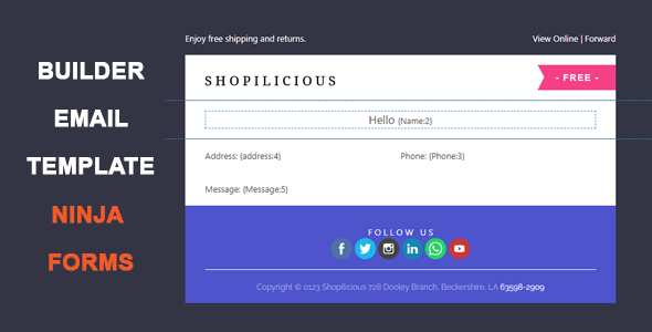 Ninja Forms Email Template Builder