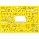 Map Set Yellow Doodle Background - GraphicRiver Item for Sale