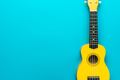 Flat Lay Photo Of Yellow Ukulele With Copy Space - PhotoDune Item for Sale