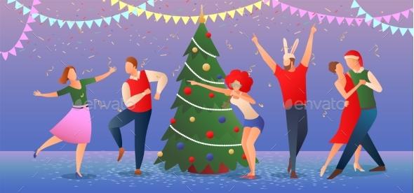 Christmas Flat Gradient Illustration