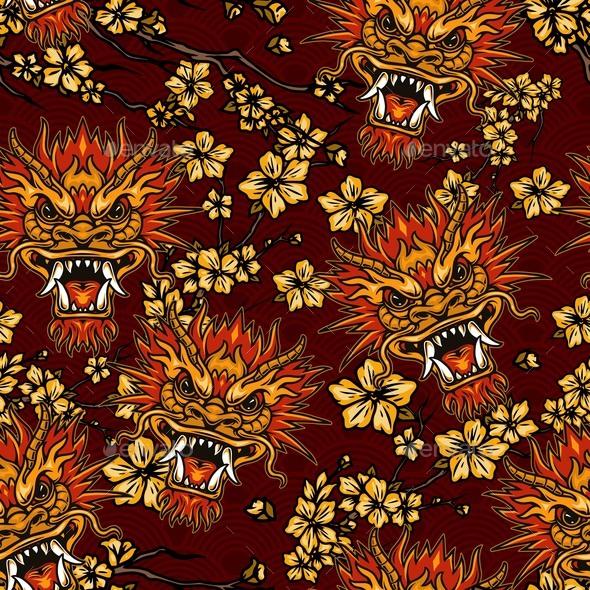 Asian Festive Traditional Seamless Pattern