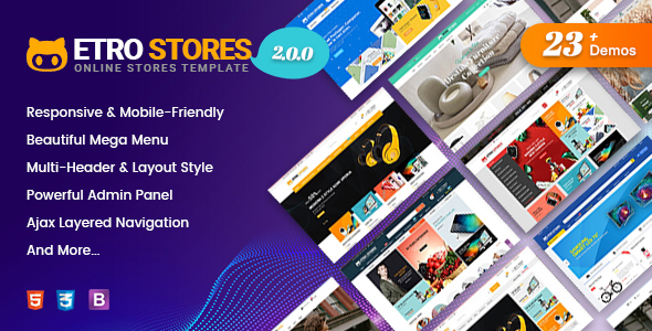 EtroStore - Responsive Multipurpose eCommerce Shopify Theme with 23+ Unique Shop Demos Ready