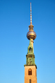 The famous Television Tower and the tower of the Marienkirche - PhotoDune Item for Sale