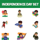 Independence Day Sticker Set - GraphicRiver Item for Sale