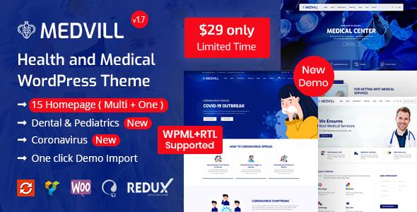 Medvill - Health & Medical WordPress Theme