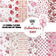 Watercolor Valentines Seamless Pattern - GraphicRiver Item for Sale