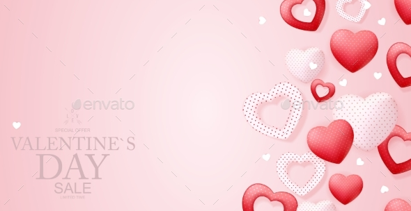 Happy Valentines Day Sale Background Poster Card