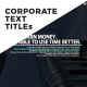 Corporate Text Titles - VideoHive Item for Sale