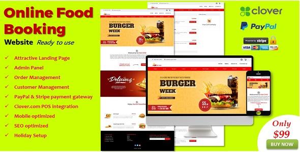 Food Booking Website in ASP.NET
