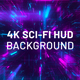 Cyber Sci-Fi 4K Hud Background - VideoHive Item for Sale