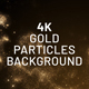 Gold Particles 4K Background - VideoHive Item for Sale