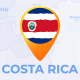 Costa Rica Map - Republic of Costa Rica Travel Map - VideoHive Item for Sale
