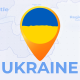 Ukraine  Map - Ukrainian Travel Map - VideoHive Item for Sale