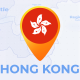 Hong Kong Map - Hong Kong Region of the Peoples Republic of China Travel Map - VideoHive Item for Sale