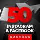 50 Instagram & Facebook Banners - GraphicRiver Item for Sale