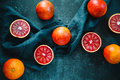 Flat lay food composition with blood oranges - PhotoDune Item for Sale