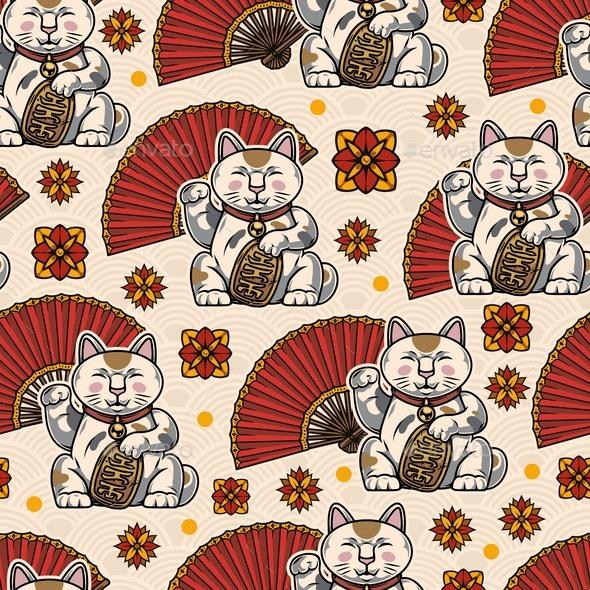 Colorful Oriental Vintage Seamless Pattern
