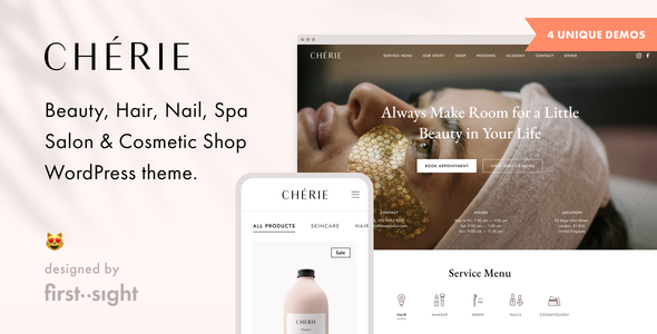 Chérie: Beauty Salon WordPress Theme