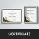 Simple Golden Certificate - GraphicRiver Item for Sale