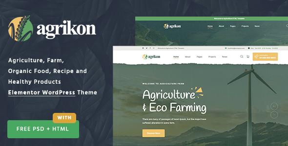 Agrikon - Organic Food & Agriculture WordPress Theme