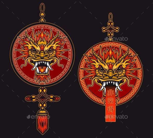 Chinese Traditional Red Lucky Pendants