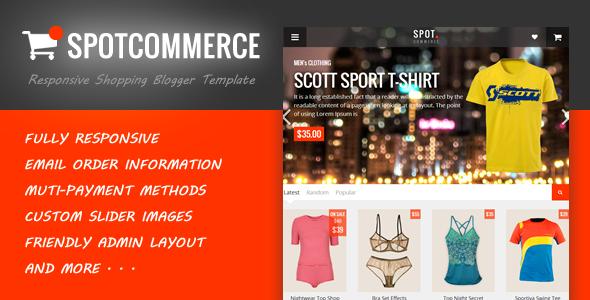SpotCommerce - Blogger Shopping Template