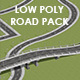 Low Poly Road Pack - 3DOcean Item for Sale