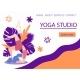 Website Banner Design for Yoga Studio Promotion - GraphicRiver Item for Sale