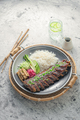 Asian style spicy short ribs with rice and vegetables - PhotoDune Item for Sale