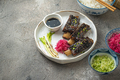Tender Beef short ribs with radish and rice, copy space - PhotoDune Item for Sale