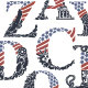 Alphabet with American Flag Design and Native Symbols - GraphicRiver Item for Sale